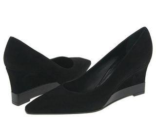 Casadei 4564 Black Suede Size 8.5 Heels (Open Box)