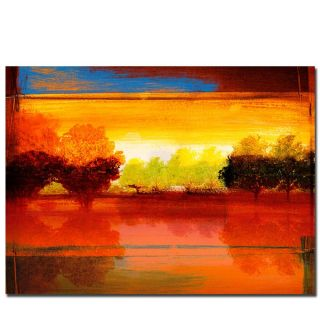 Miguel Paredes Red Dawn I Canvas Art