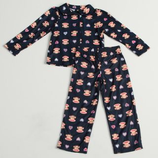 Small Paul by Paul Frank Girls 2 piece Monkey Face Print Pajama Set