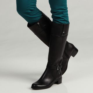 Bandolino Womens Cazadora Leather Riding Boots