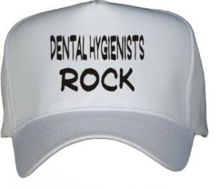 Dental Hygienists Rock White Hat / Baseball Cap Clothing