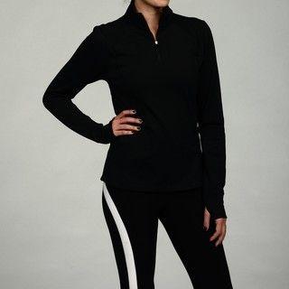 Calvin Klein Performance Womens Black Half zip Pullover Jacket