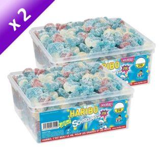 SCHTROUMPF PIK   Bonbons gélifiés acidifiés   2 Boîtes de 210