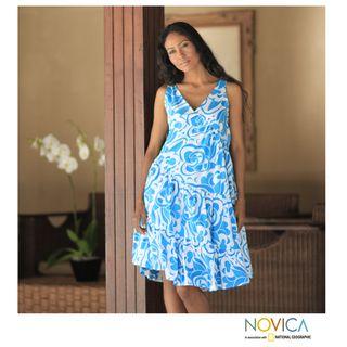 Cotton Balinese Sea Batik Dress (Indonesia)