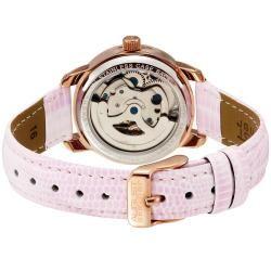 August Steiner Womens Skeleton Automatic Strap Watch