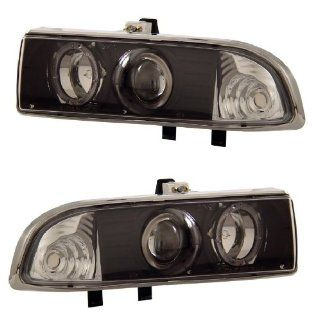 CHEVY S10 / BLAZER 98 04 PROJECTOR HEADLIGHT HALO BLACK CLEAR NEW
