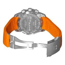 Tissot Mens T Tactile T Touch II Multi Function Orange Strap Watch