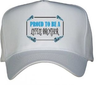 Proud To Be a Little Brother White Hat / Baseball Cap