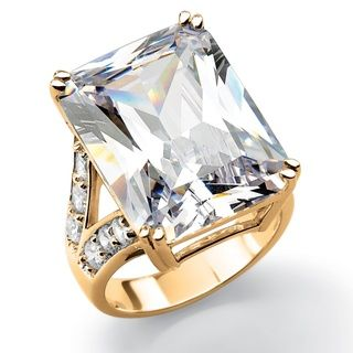 Ultimate CZ 14k Gold plated Cubic Zirconia Ring