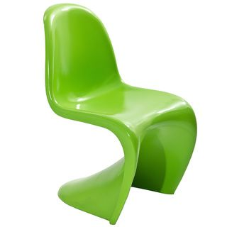 Verner Panton Style Green Chair
