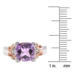 Michael Valitutti 14k White Gold Rose de France and Diamond Ring