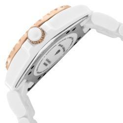 Swiss Legend Womens Karamica White High Tech Ceramic Diamond Watch