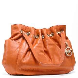 MICHAEL Michael Kors Womens Jet Set Tangerine Leather Chain Ring