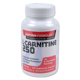Jarrow Formulas L Carnitine 250mg 100 count Dietary Supplement