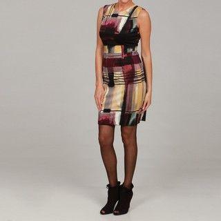 Calvin Klein Womens Plum Printed Dress