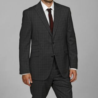 Ben Sherman Mens Grey Wool Flat Front Suit
