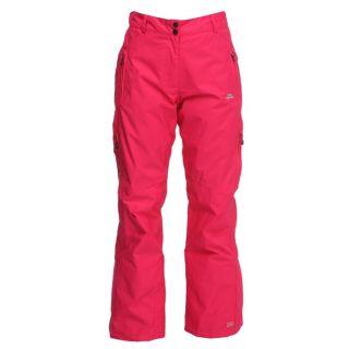 Coloris  Fuchsia. Un pantalon de ski TRESPASS Femme avec ceinture à