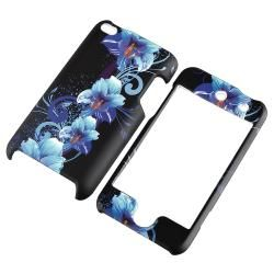 Flower Snap on Rubber Coated Case for Apple iPod Touch Generation 4