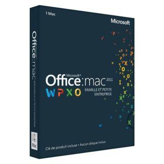 LOGICIEL BUREAUTIQUE Office Mac Famille et Petite Entreprise 2011