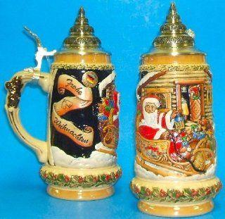 King Werks Santas Sleigh German Beer Stein 0.5 Liter