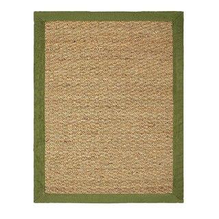 Hand woven Coastal Seagrass Sage Area Rug (2 x 3)