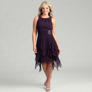 Jessica Howard Womens Egg Bead Embellished Dress