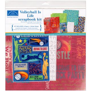 Volleyball Is Life Scrapbook Page Kit 12X12 Volleyball