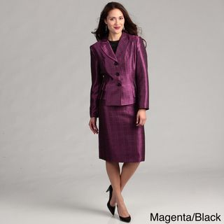 Danillo Womens Pleated Tier Skirt Suit