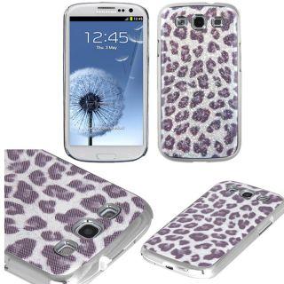 Premium Samsung Galaxy S III/S3 Purple Silver Leopard Protector Case