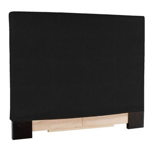 Slip covered King size Black Faux Leather Headboard