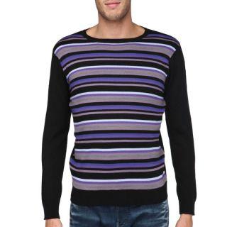 TRAXX Pull Homme Noir, violet, mauve, rose et vert   Achat / Vente