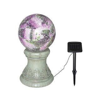 Alpine Corp SLC154SLR Solar Gazing Globe and Stand with