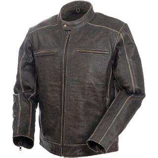 Mossi Mens Nomad Premium Leather Jacket