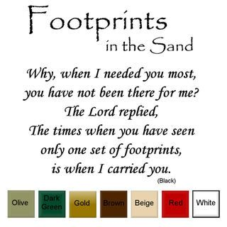 Footprints in the Sand Vinyl Wall Art Decal