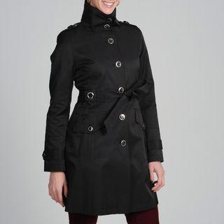 Via Spiga Womens Tie Belted Trench Coat