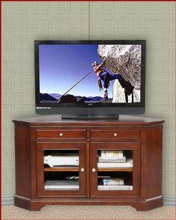 Winners Only Glass Door Corner TV Cabinet WO TTC155WB