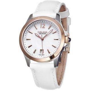 Golana Swiss Womens Aura Pro 100 Two tone Steel Quartz Watch
