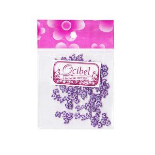 100 Fimo Papillon Violet   Achat / Vente STICKER POUR ONGLE Sachet 100