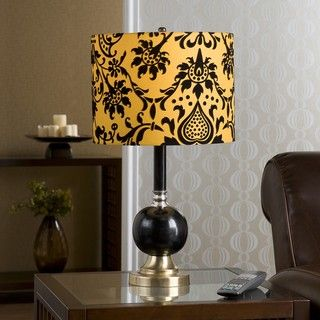 Galen 1 light Black and Gold Table Lamp