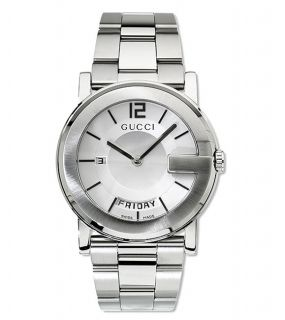 Gucci 101 Series Mens Silver Dial Steel Watch