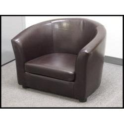 Montana Faux Leather Arm Chair