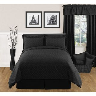 Sweet JoJo Designs Black Diamond 3 piece King size Bedding Set