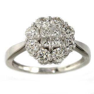 Beverly Hills Charm 14K White Gold 1ct TDW Diamond Ring (H I, I1