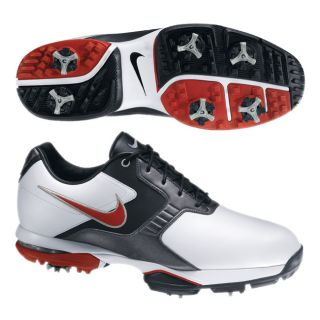 Nike Mens Air Academy II White/ Red/ Grey Golf Shoes (Blem