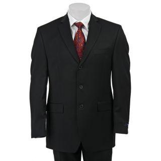 Izod Mens Black Wool 3 button Suit