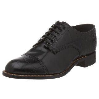 Stacy Adams Mens Madison Croco Cap Toe Oxford: Shoes