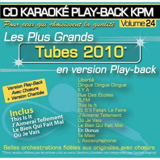 CD Karaoké Play Back KPM Vol.24 Tubes 2010   Achat CD VARIETE