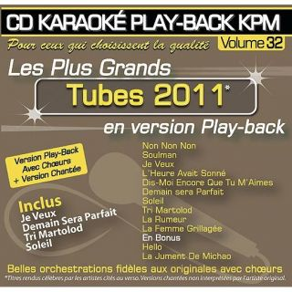 CD Karaoké Play Back KPM Vol.32 Tubes 2011   Achat CD VARIETE