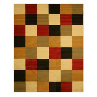 Pat Boxes Geometric Red Rug (710 x 106)