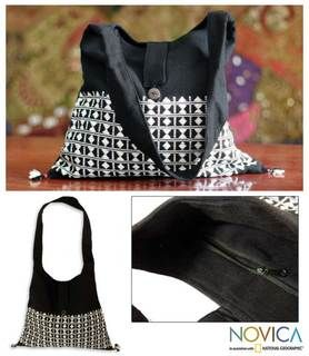 Cotton Diamond Light Sling Tote Bag (India)